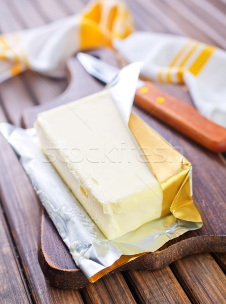Manteiga comida azul pão leite Óleo Foto stock © tycoon