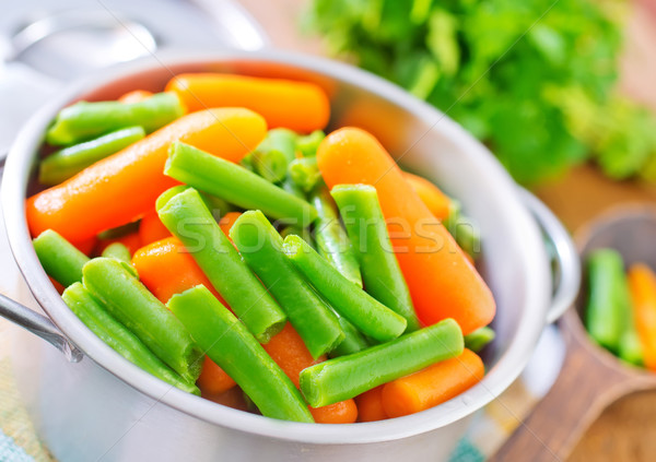 carrot and green beans Stock photo © tycoon