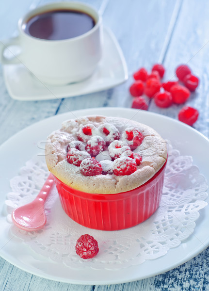 raspberry souffle Stock photo © tycoon