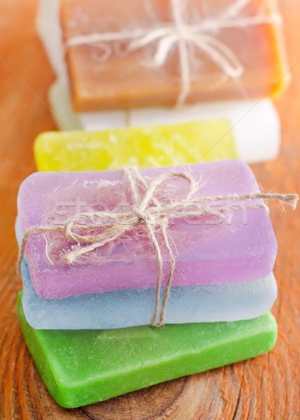 Color jabón madera cuerpo salud verde Foto stock © tycoon