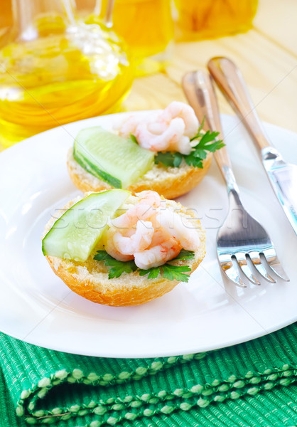 avocado with shrimps Stock photo © tycoon