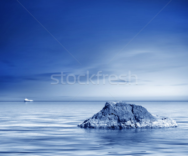 Mar costa playa cielo sol luz Foto stock © tycoon