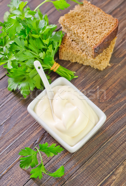 Mayonez gıda tablo ekmek yağ beyaz Stok fotoğraf © tycoon