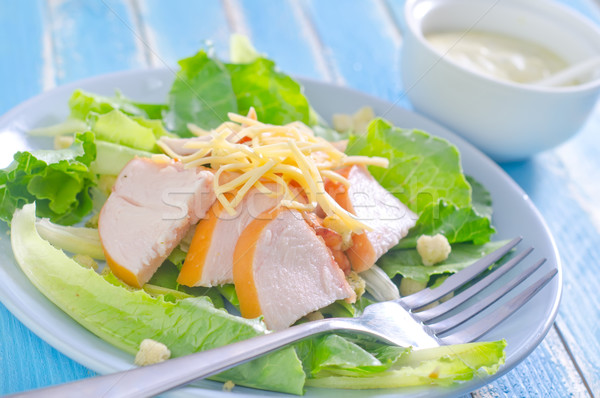 Taze salata tavuk peynir gıda plaka Stok fotoğraf © tycoon