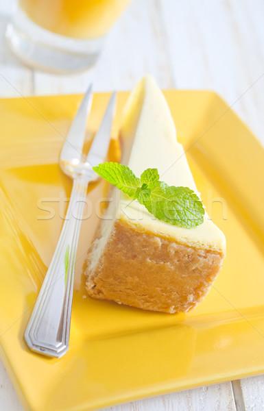 Sernik świetle tle restauracji obiedzie widelec Zdjęcia stock © tycoon