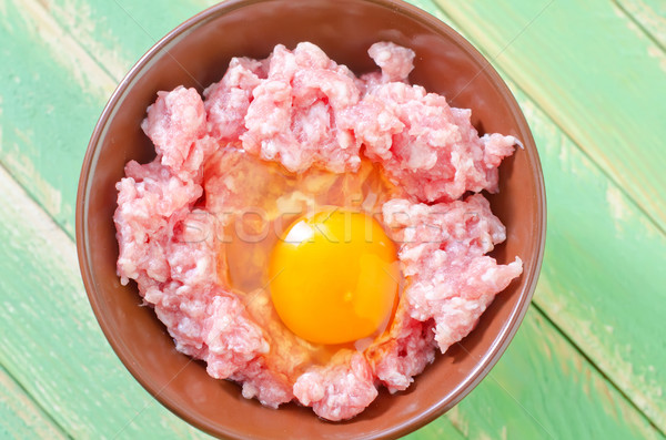 minced meat with egg Stock photo © tycoon