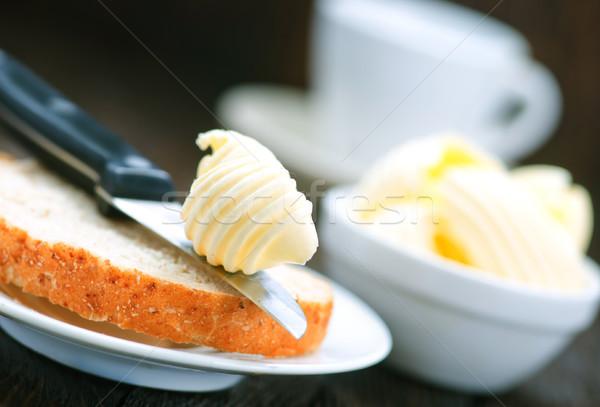 Manteiga pão café da manhã tabela papel comida Foto stock © tycoon