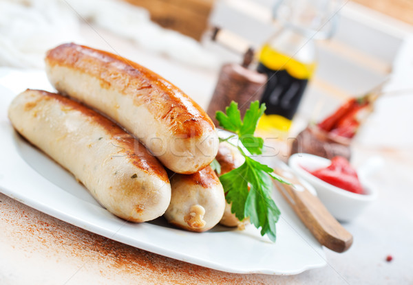 fried sausages Stock photo © tycoon
