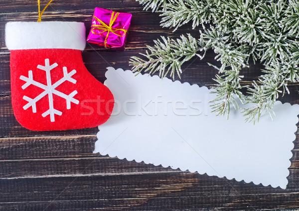 Navidad decoración textura árbol madera verde Foto stock © tycoon