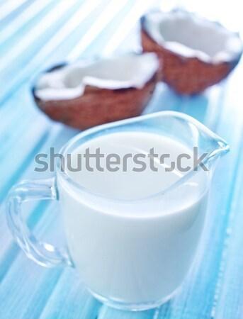 кокосовое молоко стекла здоровья пить энергии жидкость Сток-фото © tycoon
