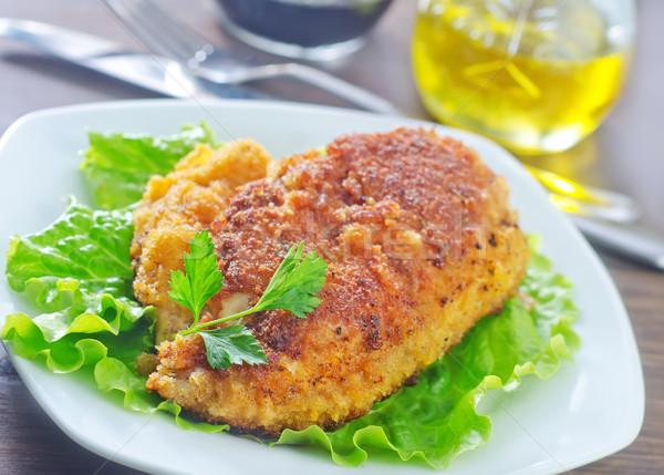 жареная курица ресторан томатный Вишневое перец столовой Сток-фото © tycoon