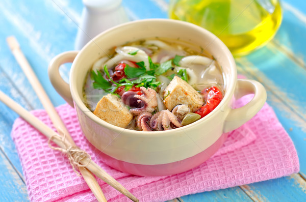 seafood soup Stock photo © tycoon