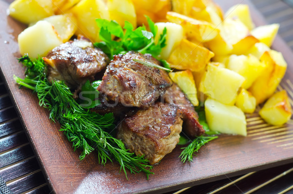 baked meat with potato Stock photo © tycoon