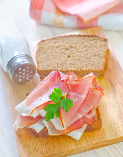 sandwich with ham Stock photo © tycoon