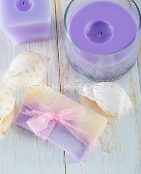 soap and candle Stock photo © tycoon