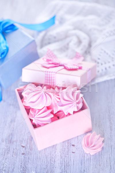Mini kolor drewniany stół Kafejka candy tablicy Zdjęcia stock © tycoon