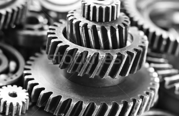 Metal engrenagens trabalhar fundo industrial máquina Foto stock © tycoon
