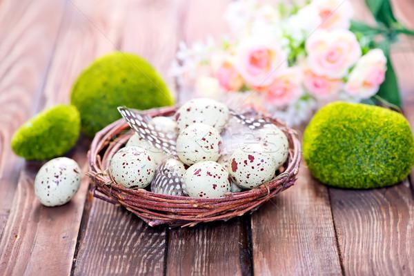 Decorativo verniciato easter eggs colore uova Pasqua Foto d'archivio © tycoon