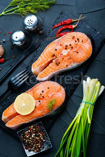 fresh salmon Stock photo © tycoon