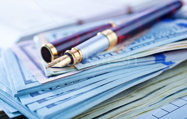 Iş yeşil banka dolar finansal lüks Stok fotoğraf © tycoon
