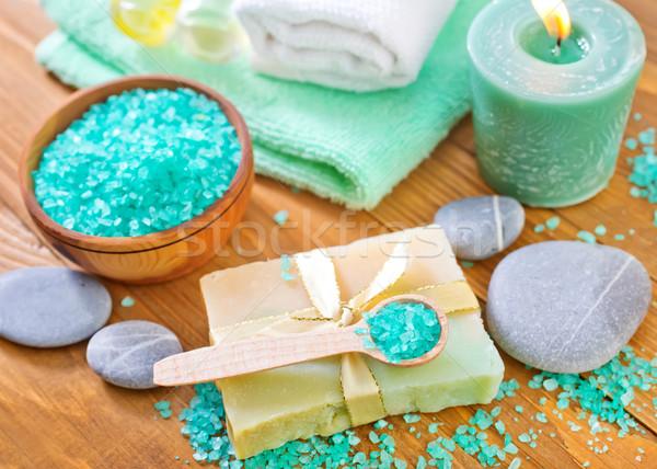 Tengeri só szappan fény zöld gyógyszer kék Stock fotó © tycoon