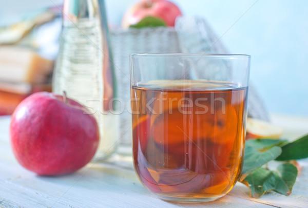 リンゴジュース フルーツ 表 ドリンク 金 色 ストックフォト © tycoon
