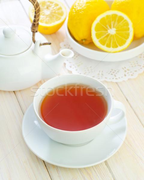 Friss tea víz természet háttér levelek Stock fotó © tycoon