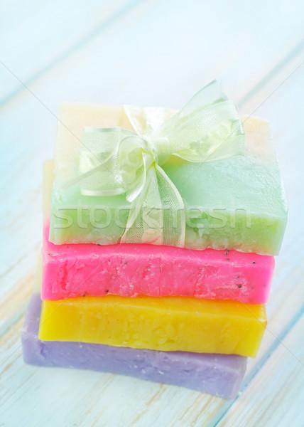 Kolor mydło niebieski relaks kąpieli biały Zdjęcia stock © tycoon