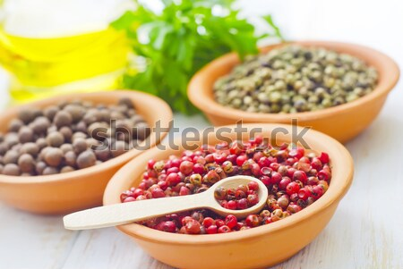 different kind of pepper Stock photo © tycoon
