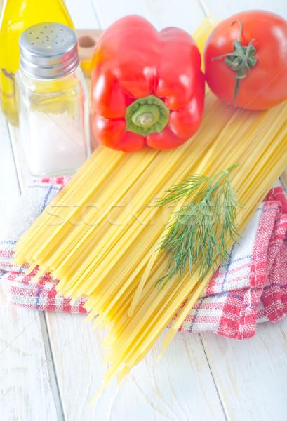 Espaguetis alimentos cocina restaurante mesa gafas Foto stock © tycoon