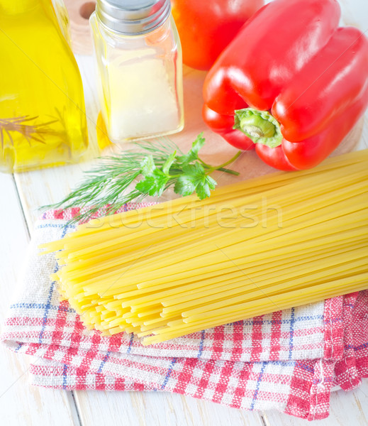 Espaguete comida cozinha restaurante tabela óculos Foto stock © tycoon