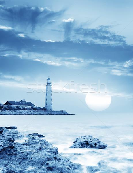 морской пейзаж пляж пейзаж свет морем красоту Сток-фото © tycoon