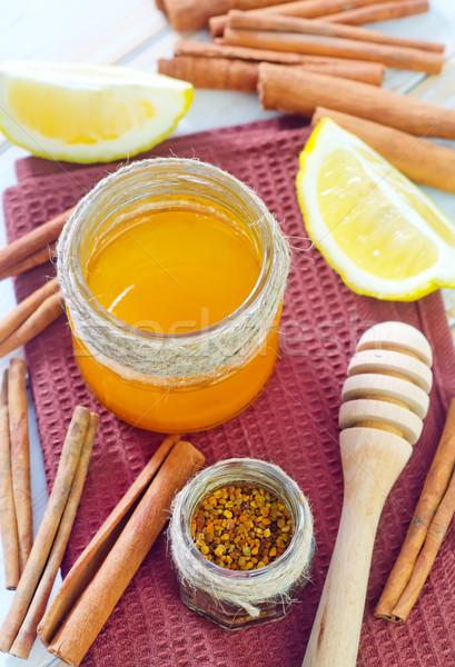 Honing citroen vruchten kleur ontbijt dessert Stockfoto © tycoon