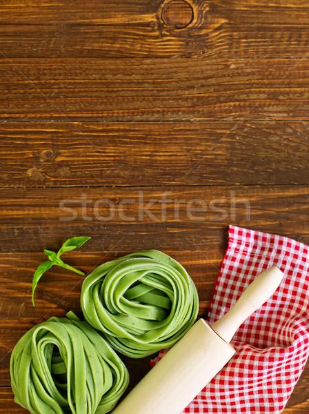 Сток-фото: сырой · пасты · зеленый · белый · приготовления · совета