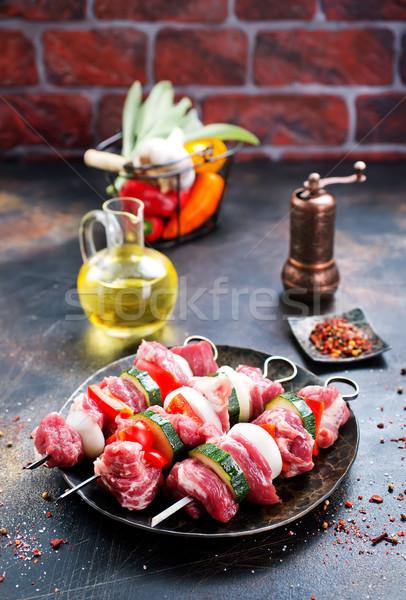 Foto stock: Quibe · carne · legumes · tempero · tomates