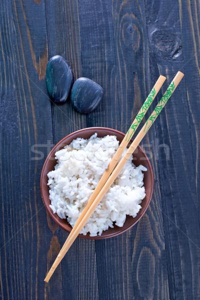 Pirinç Asya öğle yemeği tahıl yemek Stok fotoğraf © tycoon