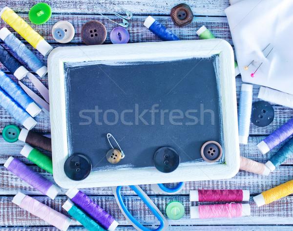 Varr szerszámok textúra szövet fekete klasszikus Stock fotó © tycoon