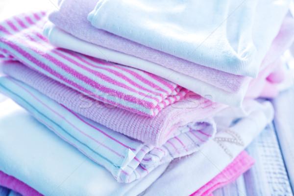 Baby kleding meisje hart witte borstel Stockfoto © tycoon