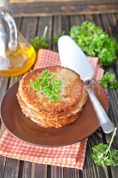Batata panquecas prato tabela comida cozinha Foto stock © tycoon