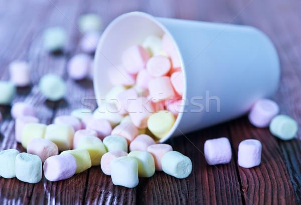マシュマロ 紙 カップ 表 食品 光 ストックフォト © tycoon