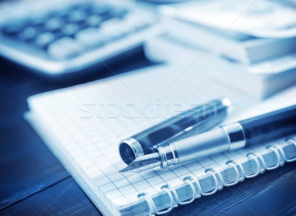 pen and note Stock photo © tycoon
