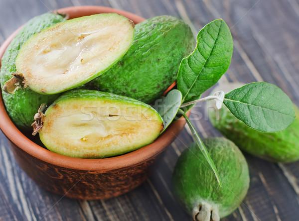 Gyümölcs zöld kés mezőgazdaság ananász friss Stock fotó © tycoon