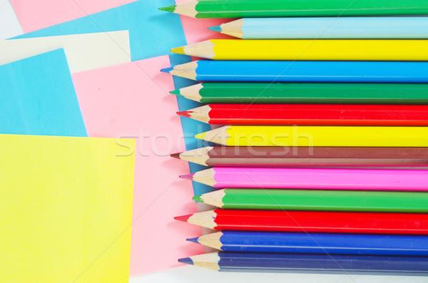 школьные принадлежности бизнеса служба бумаги студент карандашом Сток-фото © tycoon