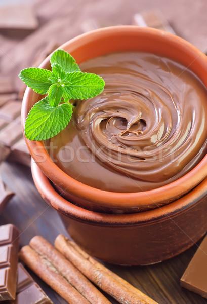 Chocolade snoep donkere eten gebroken achtergronden Stockfoto © tycoon