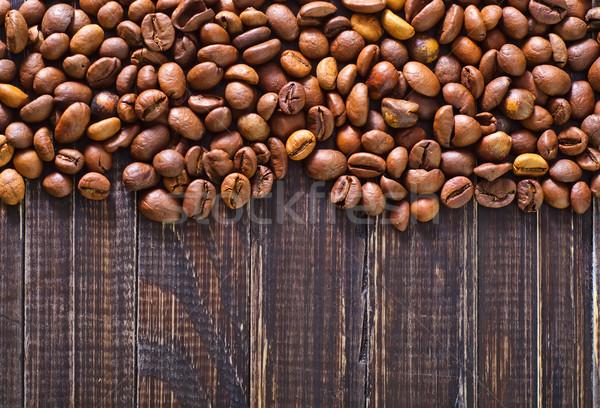 Koffie blad vloer pot concept boon Stockfoto © tycoon