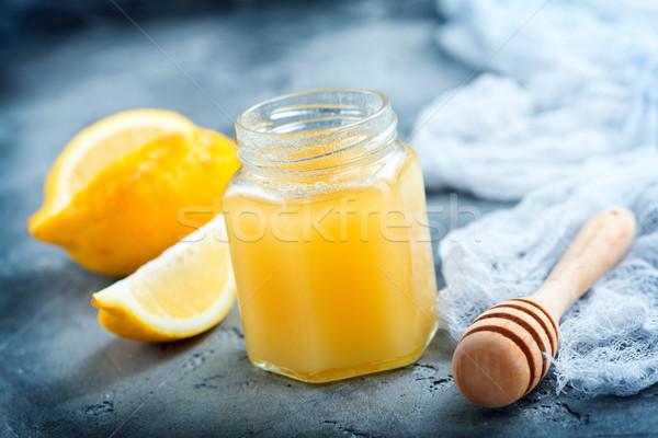 Miel limón gris mesa medicina otono Foto stock © tycoon