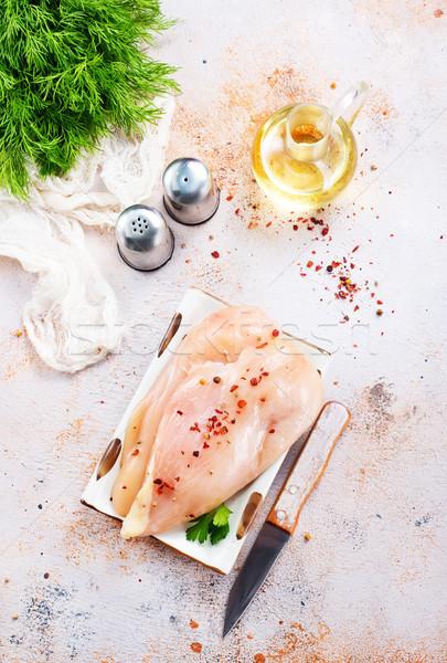Kurczaka filet surowy soli czas Fotografia Zdjęcia stock © tycoon