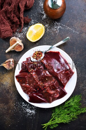 Stock photo: raw liver