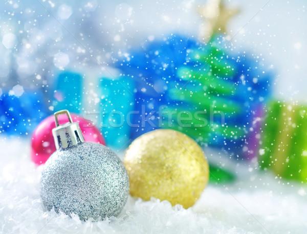 Рождества украшение свет снега пространстве мяча Сток-фото © tycoon