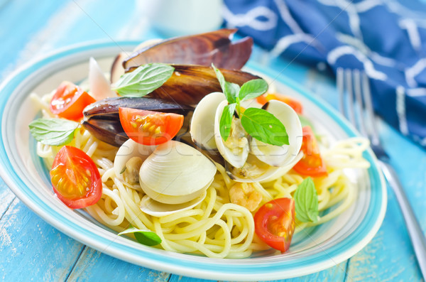 pasta with seafood Stock photo © tycoon